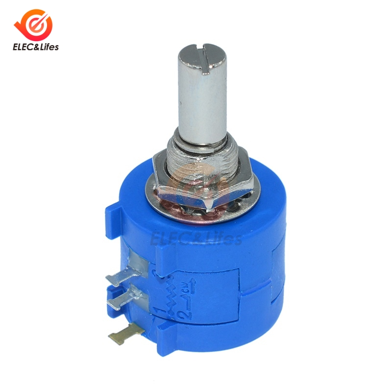 NEW <font><b>3590S</b></font>-<font><b>2</b></font>-<font><b>103L</b></font> <font><b>3590S</b></font> 10K ohm Precision Multiturn Potentiometer 10 Ring Adjustable Resistor image