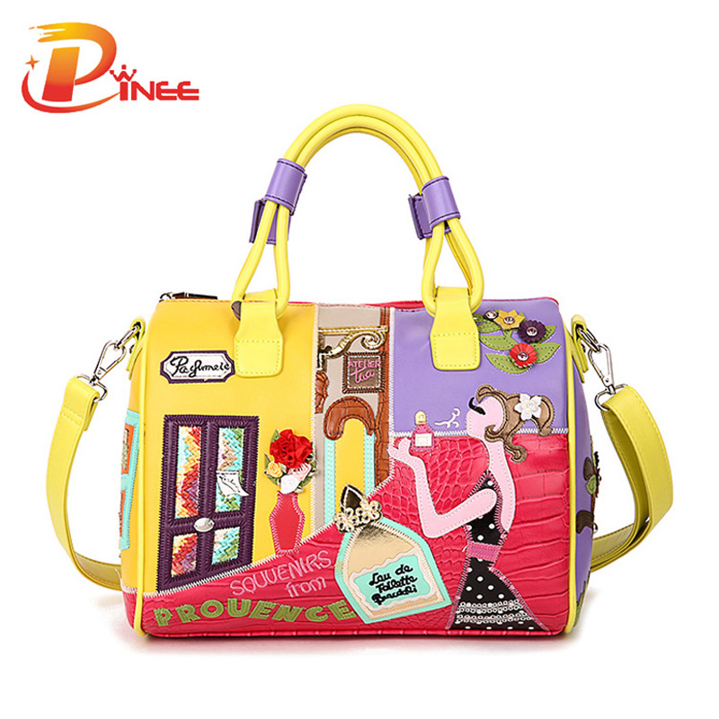 Candy Color Handbags High Quality Fashion Italian Leather Bags Famous Brands St