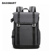 BAGSMART Camera Backpack for SLR/DSLR Camera Travel Photography Bag 15 Laptop Backpack with Waterproof Rain Cover& Tripod Holder