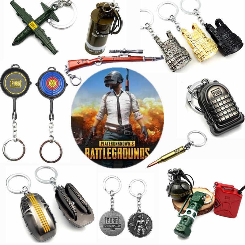 Sıcak oyun PUBG anahtarlık oyun ekipmanı anahtarlık chaveiro alaşım kolye llaveros Cosplay fanlar yüksek kaliteli oyuncak koleksiyonu hediye