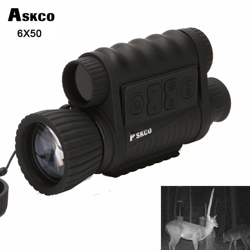 Télescope monoculaire de Vision nocturne infrarouge numérique de chasse 6X50 portée 5MP HD 350 m pour la prise de vue d'image vidéo NVH650