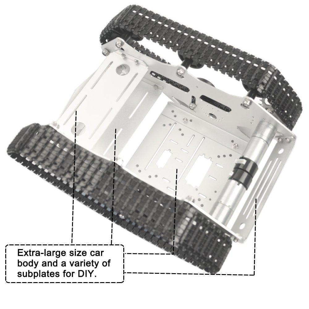 Image 5 - Kookye робот шасси автомобиля умный Танк платформы металл Нержавеющаясталь 2DW мотор 9 В для Arduino/Raspberry Pi DIY (TR300)-in Доски для показов from Компьютер и офис