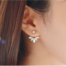 Romantic Jewelry Crystal Eardrop Flowers Drop Earrings For Women