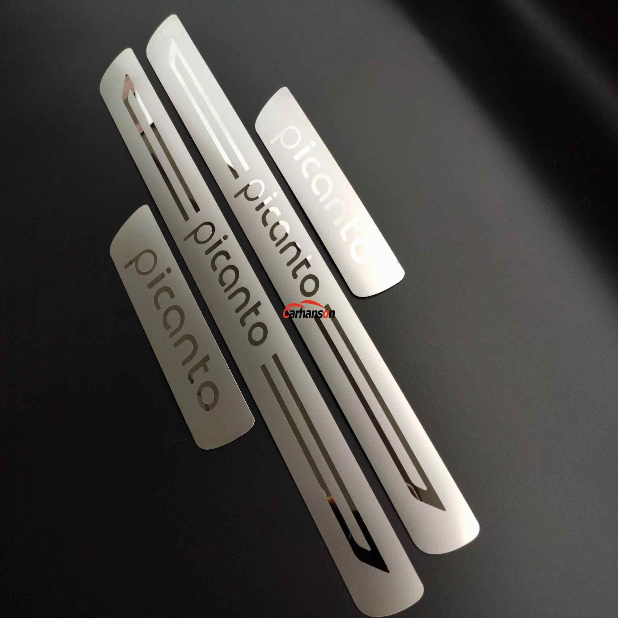 Автомобильные аксессуары для Kia Picanto из нержавеющей стали дверной порог Стайлинг Автомобильная педаль накладка протектор Защита 2013 2015 2016 2019