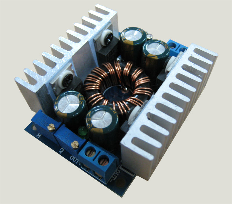 100w automatic boost  buck converter cc cv 5 30v to 1 25