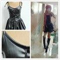 Бесплатная доставка Дневник Будущего Mirai Nikki Gasai Yuno Косплей Костюм Аниме Черная Кожа Dress