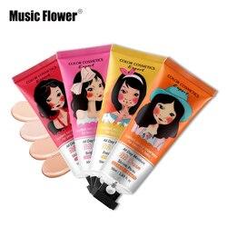Music Flower бренд BB & cc-крем корейский макияж Жидкая основа для лица основа под макияж увлажняющий консилер отбеливающая Косметика 50 мл