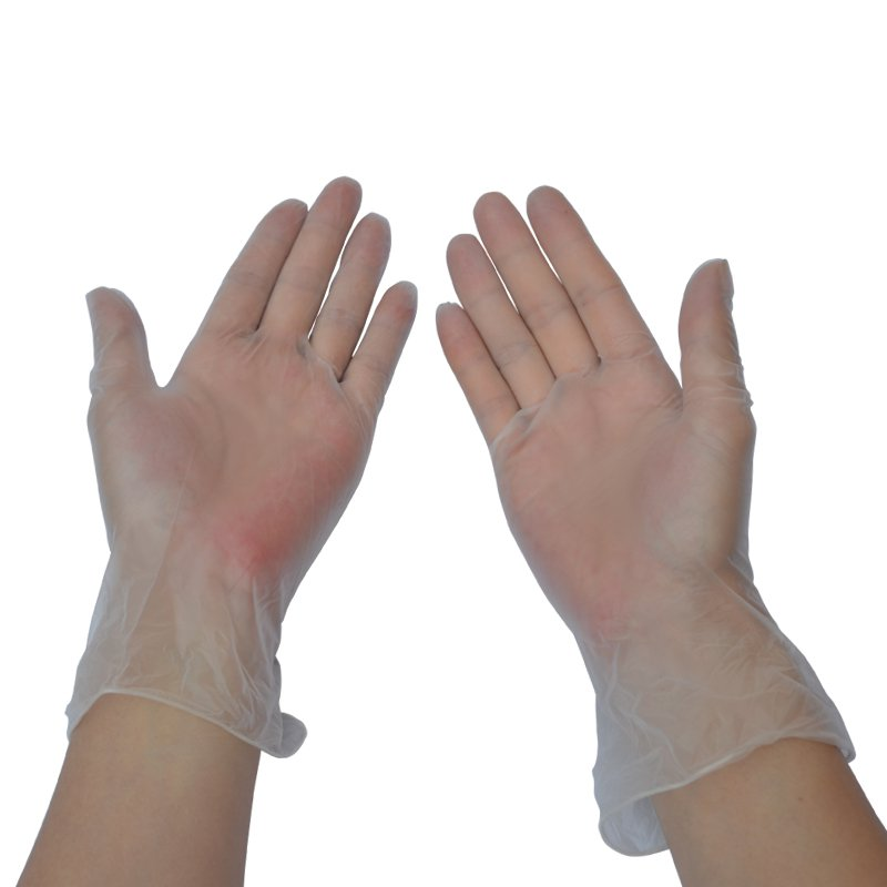 ФОТО A grade PVC disposable nitrile rubber latex food hygiene transparent oil waterproof gloves
