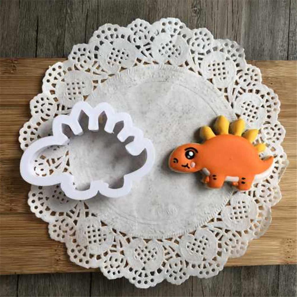 8 ชิ้น/เซ็ต 3D ไดโนเสาร์แสตมป์คุกกี้คุกกี้พลาสติก Biscuit ตกแต่งแม่พิมพ์สัตว์รูปร่าง Cookie Cutters