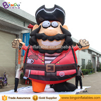 Customized Size Giant Inflatable Pirate Cartoon Character, Vivid Inflatable Viking Replica for sale, Inflable Piarte Captain Toy