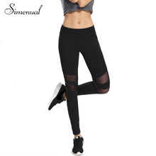 Mesh splice fitness leggings for women 2017 harajuku athleisure sexy slim trousers black legging elastic push up woman clothes