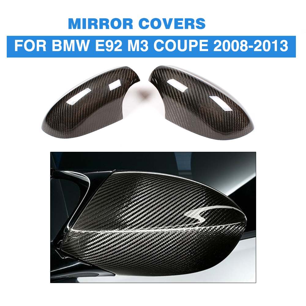 Add On Style DRY Carbon Rear View Mirror Cover Caps for BMW 3 Series E92 M3 Coupe 2 door 2008 2013