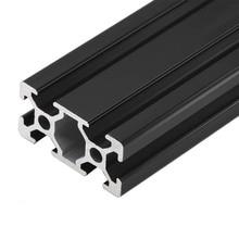 1 шт. черный 2040 Европейский стандарт анодированный алюминиевый профиль Экструзия 100-800 мм Длина линейной рельсы для ЧПУ 3d принтер