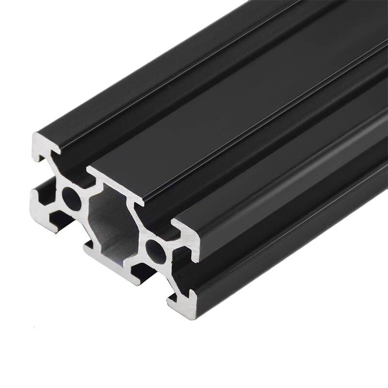 1 шт. черный 2040 Европейский стандарт анодированный алюминиевый профиль экструзии 100-800 мм длина линейный рельс для CNC 3D принтера