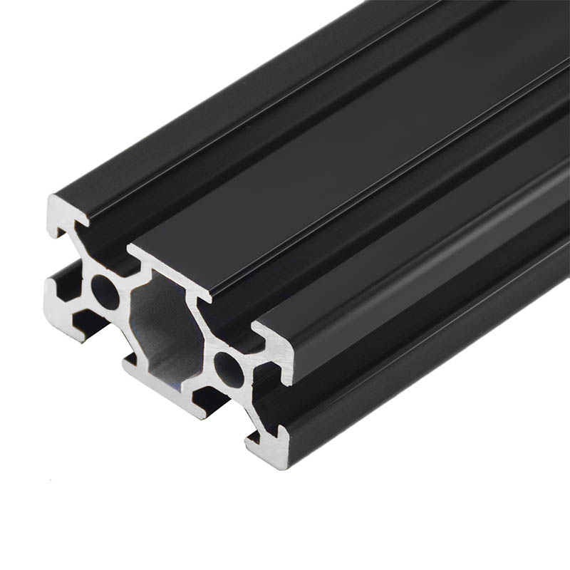 1PC BLACK 2040 European Standard Anodized Aluminum Profile Extrusion 100-800mm Length Linear Rail for CNC 3D Printer(China)