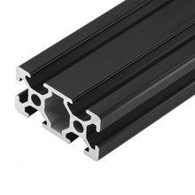 Riel lineal para impresora, carril europeo estándar de aluminio anodizado, negro, extrusión de perfiles 100-800 mm, CNC 3D, 1 unidad, 2040