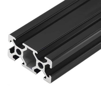 1PC BLACK 2040 European Standard Anodized Aluminum Profile Extrusion 100-800mm Length Linear Rail  for CNC 3D Printer