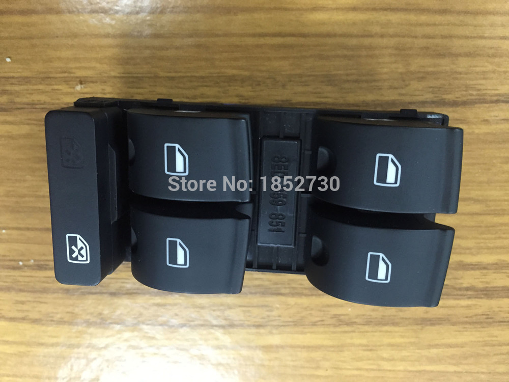 new Power Window Switch DRIVER SIDE for Audi A4 B6 B7 Sedan 8ED959851 8E0 959 851B T-0-P