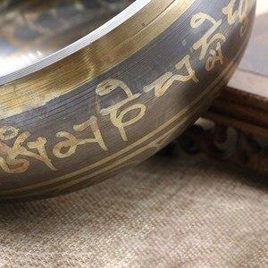 Латунная чаша для пения тибетской йоги, Поющая чаша для медитаций, Гималайская ручная Чара, медитация, звуковой массаж, домашний декор