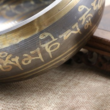 Tazón De Latón Tibetano Para Yoga, Bol De Canto De Meditación, Mano Del Himalaya, Martillado, Chakra, Meditación, Sonido, Masaje, Ornamento Del Hogar