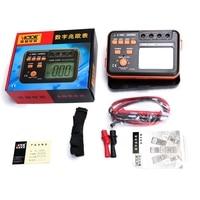 Victor VC60B+ Digital Insulation Resistance Tester Megger MegOhm Meter DC/AC 0.1~2000m ohm 250V/500V/1000V DC Voltage Tools