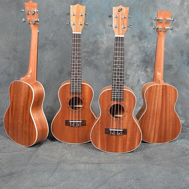 цена 23' concert Sapele wood ukulele 18 Frets concert ukulele Sapele wood ukulele онлайн в 2017 году
