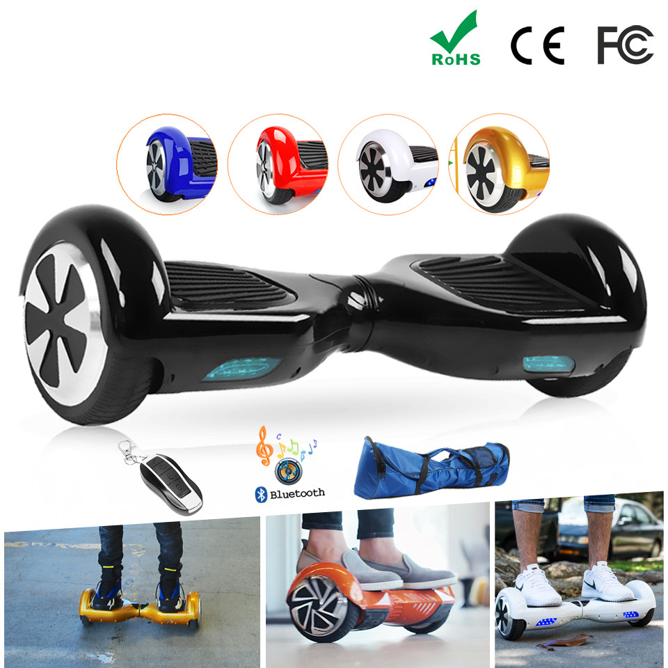 Electric Skateboard 2 Two Wheel Smart Self Balance Scooter Hoverboard 6.5 Overboard Hoover Hover Board Unicycle RU/EU Warehouse 8 inch hoverboard 2 wheel led light electric hoverboard scooter self balance remote bluetooth smart electric skateboard