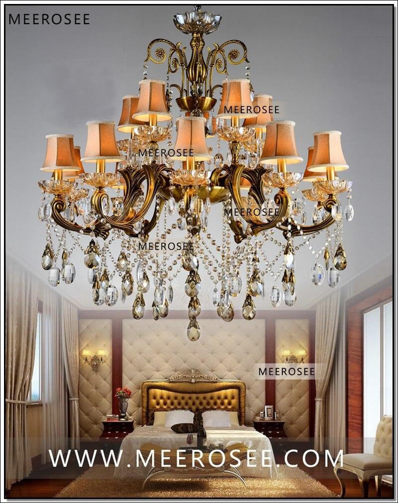 VROČE! Veliki kristalni lestenec svetilka starinska medenina Velika - Notranja razsvetljava - Fotografija 5