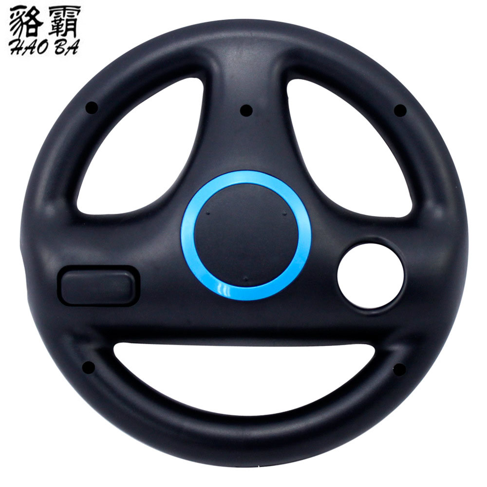 HAOBA Plastic Steering Wheel for Wii Kart Racing Games Remote Controller Console Fast Shipping