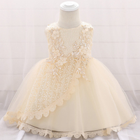 3 to 12 Months Kids New Infant Baby Girls Dress 2019 Summer Dresses for Girls 1st Year Birthday Party Wedding Baby Clothes B6A2J