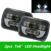 5x7 Auto Headlamp 5x7 Inch High Low Beam Square Led Headlight For Jeep Cherokee XJ Trucks