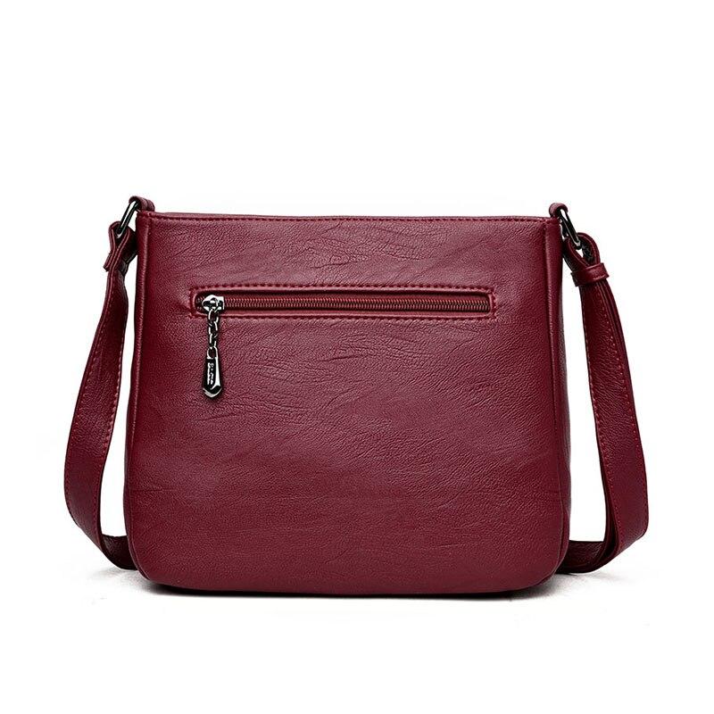 DIZHIGE Brand 2017 High Quality Sheepskin Women Messenger Bags Shoulder Genuine Leather Bags Women Double Zippers Crossbody Bags Karachi