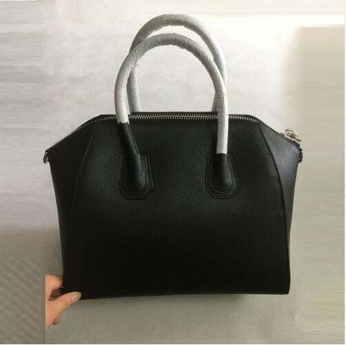goat grain Hobo Genuine Leather silver hardware Handbags Women Famous Brand Zipper Shoulder Totes Luxury Handbags locomoti