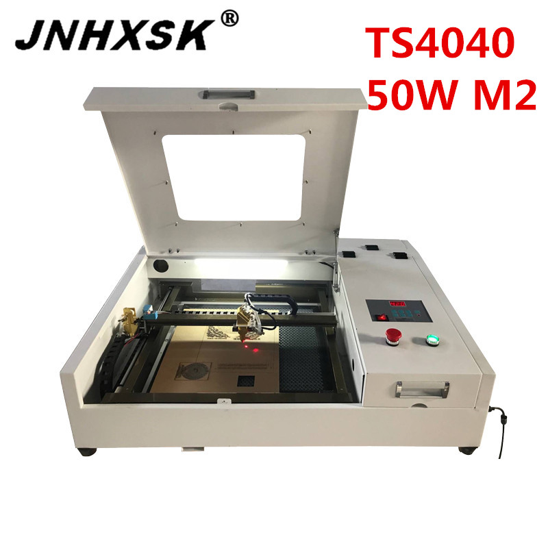 JNHXSK Desktop LY Laser 4040 50W High Speed CO2 Laser Cutting Milling Engraving Machine Work Size 400*400mm