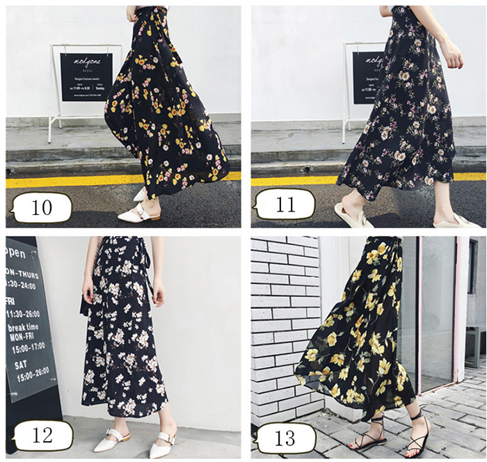 Boho Asymmetrical Chiffon Maxi Long Skirts 17