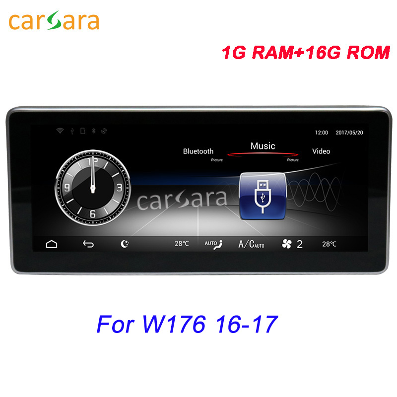 10.25Mercedes W176 2016 2017 In Dash DVD Player GPS Navigation Android 5.1 Vehicle Multimedia Play for Ben z CLA GLA A Class