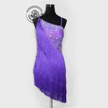 New style latin dance costume sexy senior diamond tassel latin dance competition dress for women child latin dance dresses
