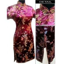 Red Chinese Traditional Dress Bridal Wedding Cheongsam Women's Silk Satin Qipao Oversize S M L XL XXL XXXL 4XL 5XL 6XL S026-B