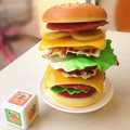 Hamburger!  fun play house kitchen toys stacked layers of high balance toys Children's Games educational brinquedos freeshipping