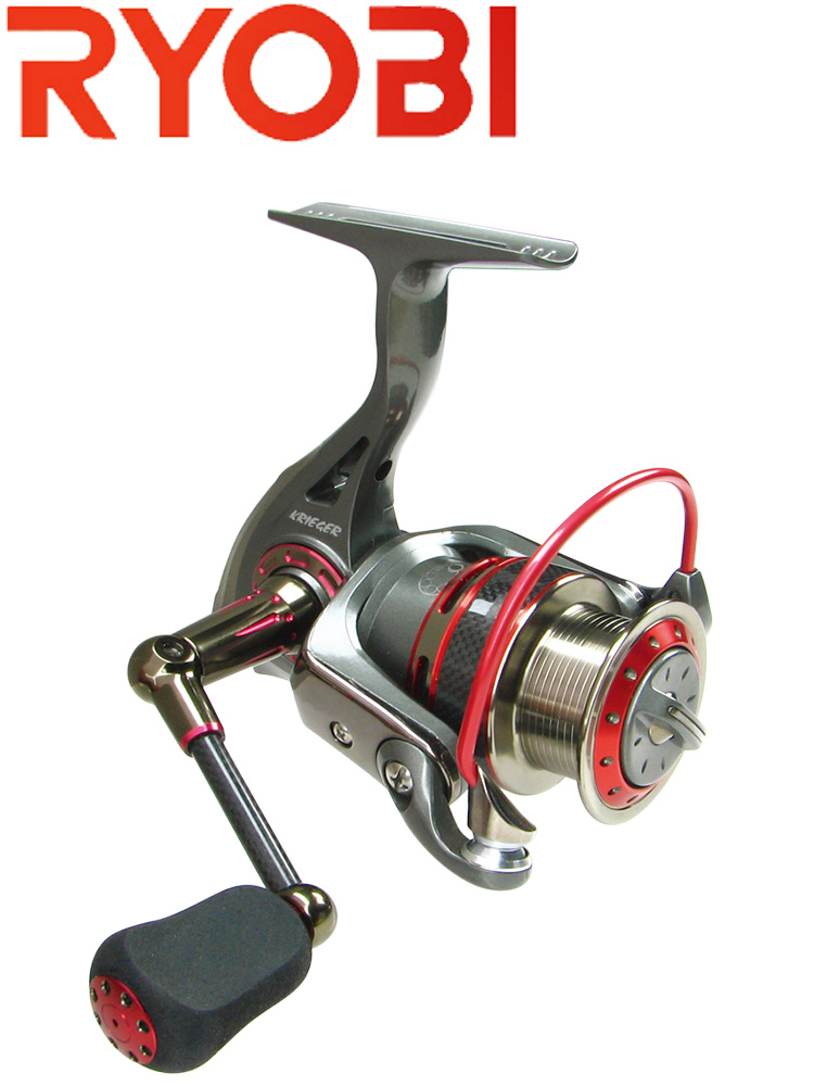 RYOBI KRIEGER Original Spinning Fishing Reel 1000-4000 Full Metal Carp Reel  7BB Seawater Wheel Gear Ratio 5.1:1