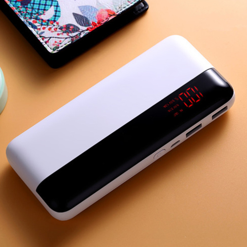 20000mAh External Battery Power Bank Dual USB Portable Powerbank Fast Charger For iPhone Honor Xiaomi Bateria Charging Poverbank usb battery bank charger
