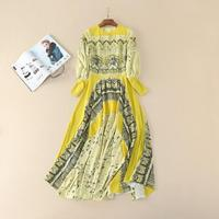 Europe And America Women S Clothes 2016 Autumn New Velvet Stitching Lace Dress
