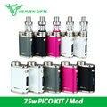 Cigarro eletrônico pico kit ismoka eleaf istick 75 w box mod 2 ML Melo 3 Mini vs 75 W Pico VW/Desvio/TC/TCR Modos Atualizável Fi