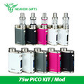 Electronic Cigarette iSmoka Eleaf iStick Pico Kit 75W Box Mod 2ML Melo 3 Mini vs 75W Pico VW/Bypass/TC/TCR Modes Upgradeable Fi