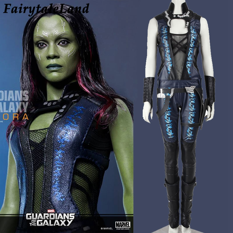 Guardians of the Galaxy Gamora cosplay costume leather Gamora jumpsuit superhero Halloween cosplay costume for adult costom made
