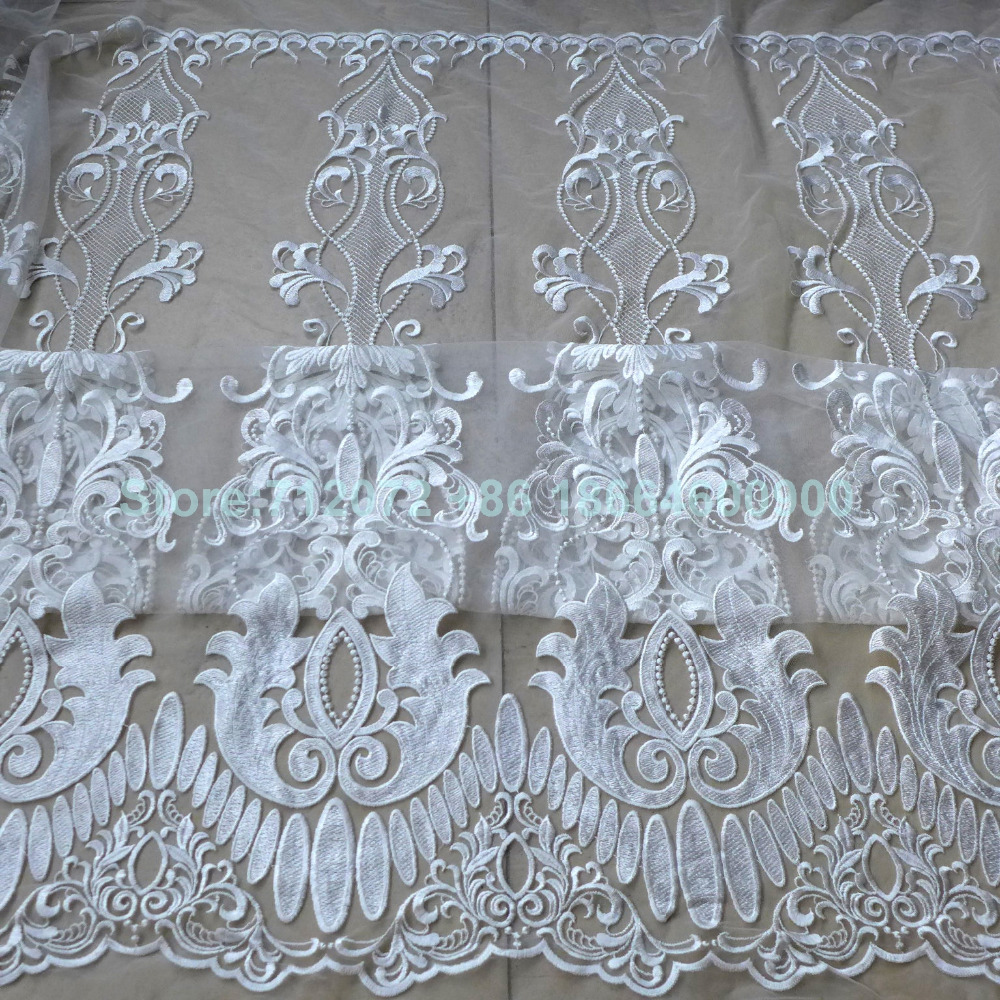 Buy new fashion show off whites mesh for Wedding dress fabric stores
