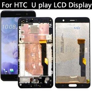 """Image 1 - 5.2 """"HTC U play için LCD ekran dokunmatik ekran digitizer Paneli Pantalla Için Yedek Parçalar HTC U Oyna LCD 100% Test Yeni"""