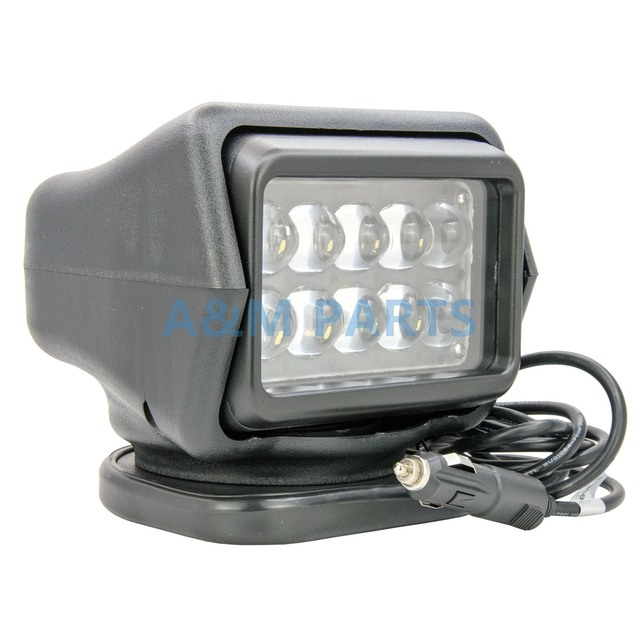 Led Truck Car Boat Marine Spot Light Wireless Remote Control Searchlight 12v 24v 50w