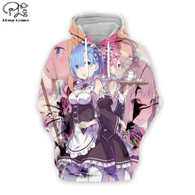 PLstar Cosmos Sexy Ram 3D Printed Hoodie Mens Womens Anime apparel boy for girl hoodies jacket Free shipping