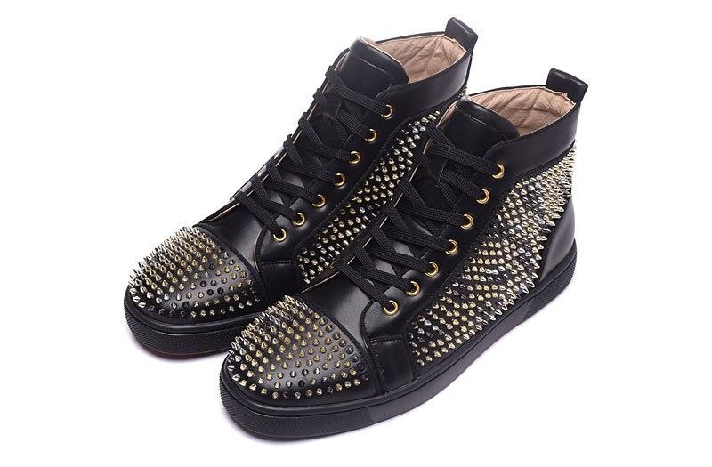 2017 moda unisex stil nou negru piele casual noroi de aur pantofi - Pantofi bărbați - Fotografie 2